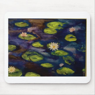 Agua pacífica Lillies Mouse Pad