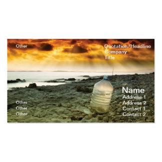 Agua pasada plantillas de tarjetas personales