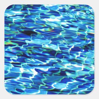 Agua Calcomania Cuadradas Personalizadas