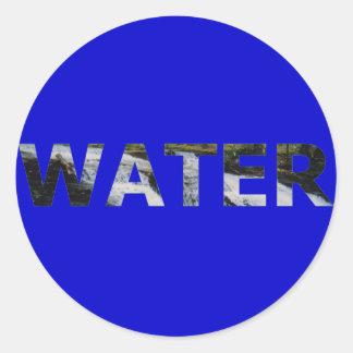 Agua Pegatina Redonda