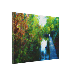 Agua pintada, lona lienzo envuelto para galerias