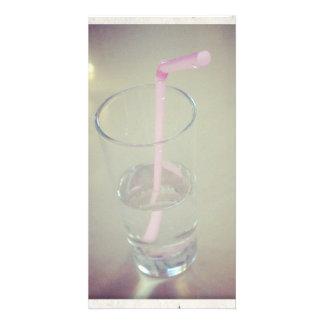 Agua potable tarjeta fotográfica