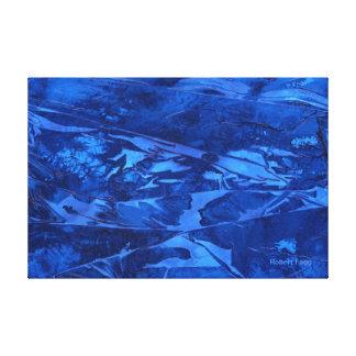 Agua profunda 1 un watercolor abstracto grande impresión en lona