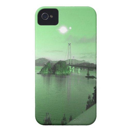 Agua, puente y dos soles Case-Mate iPhone 4 fundas