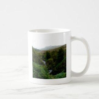 Agua pura de la corriente del bosque taza de café