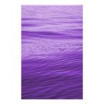 Agua púrpura papelería de diseño