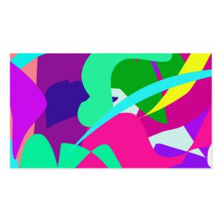 Agua púrpura tarjetas de visita