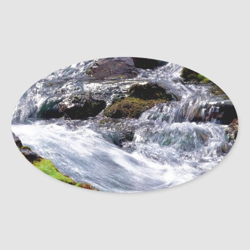 Agua que acomete la isla de Georgia Calcomanías Ovaladas