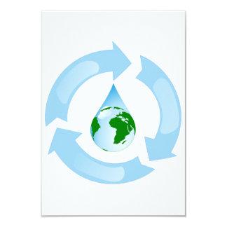 """Agua que recicla invitaciones invitación 3.5"""" x 5"""""""