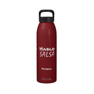 Agua reutilizable del metal de los amantes de la d botella de beber