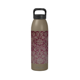 Agua reutilizable elegante del monograma del damas botellas de beber
