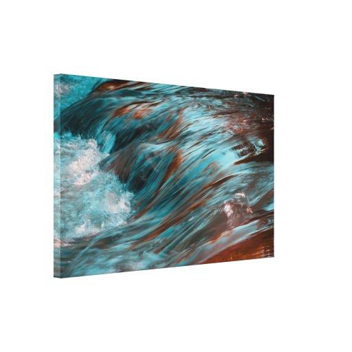 agua roja y azul impresion de lienzo