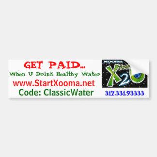 Agua sana de la pérdida de peso pegatina para auto
