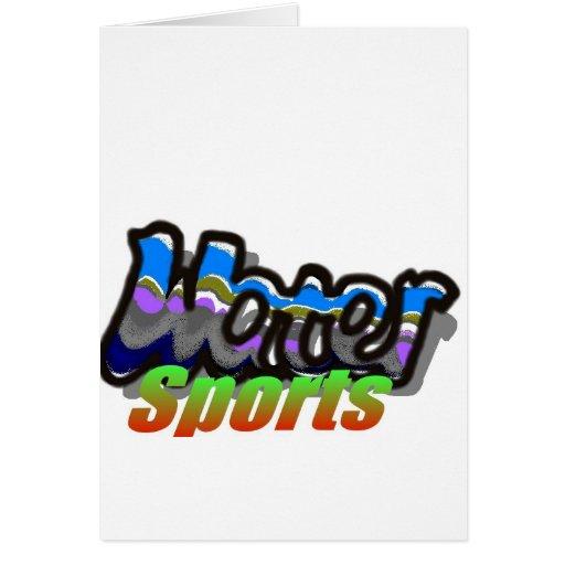 agua sports2 tarjeta de felicitación