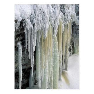 Agua subterránea azul del hielo y fugada; tarjeta postal