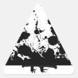 Agua tempestuosa pegatinas de triangulo personalizadas
