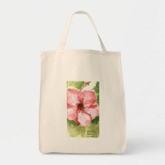 Agua tropical de la flor, color bolsa tela para la compra