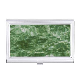 Agua verde cajas de tarjetas de visita