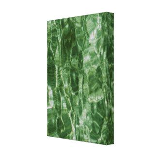Agua verde impresión en lienzo