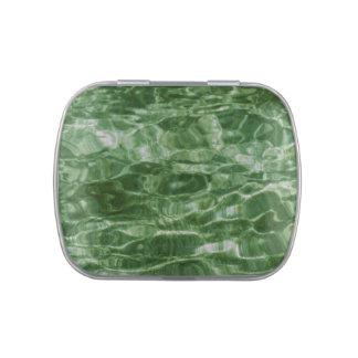 Agua verde latas de dulces