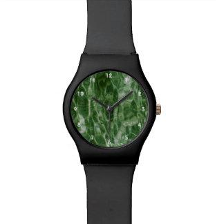 Agua verde relojes de mano