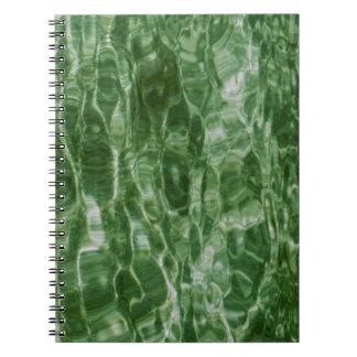 Agua verde spiral notebook