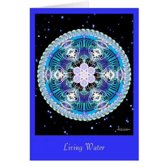 Agua viva tarjeta de felicitación