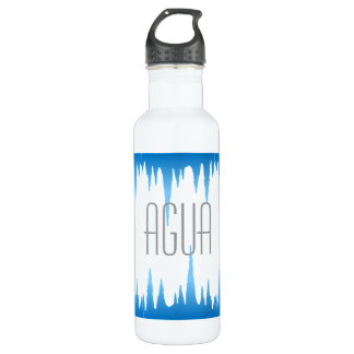 """""""Agua"""" with blue ice sickles Stainless Steel Water Bottle"""