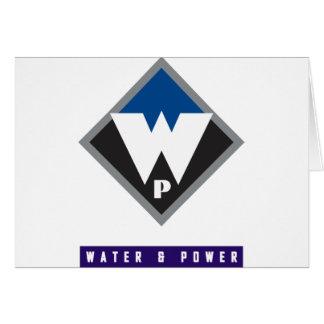 Agua y poder tarjeta de felicitación