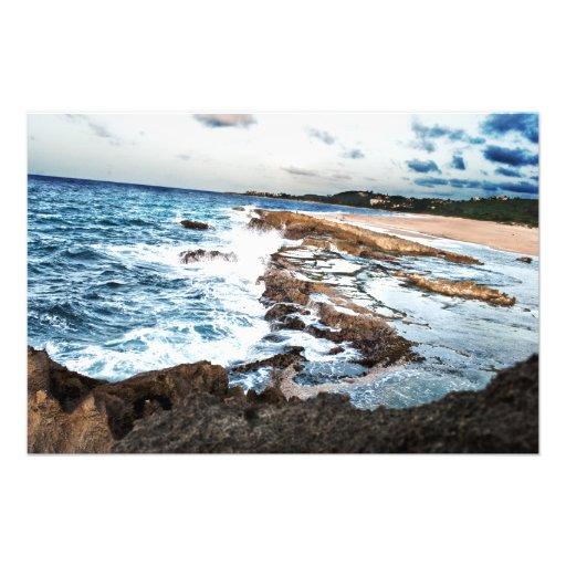 Agua y roca (una resolución de imagen más alta) impresion fotografica