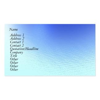 Agua y viento tarjetas de visita