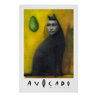AGUACATE - AZULES PÓSTER