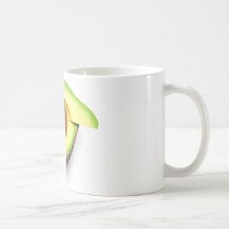 Aguacate cortado taza