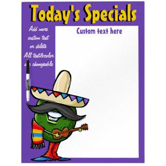 Aguacate especial diario del mexicano del tablero pizarras blancas de calidad