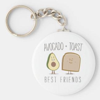 Aguacate + Llavero divertido de los mejores amigos