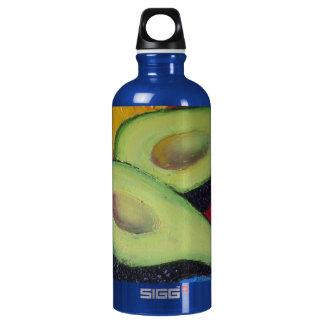 Aguacate verde botella de agua