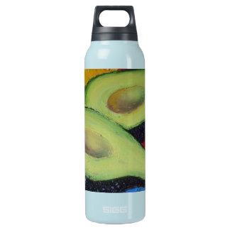 Aguacate verde botella isotérmica de agua