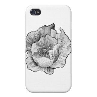 aguafuerte de la amapola iPhone 4/4S carcasas