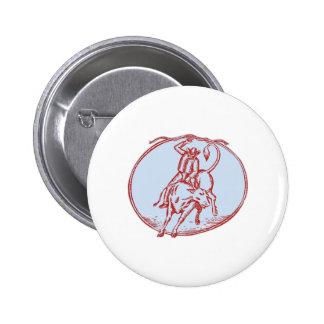Aguafuerte del círculo del montar a caballo de pin redondo 5 cm