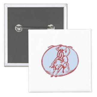 Aguafuerte del círculo del montar a caballo de pin cuadrada 5 cm