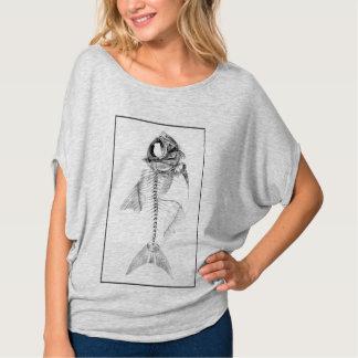 Aguafuerte esquelética de los pescados del vintage camisas