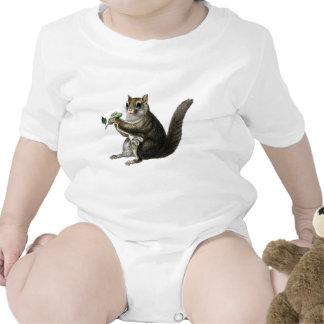 Aguafuerte zoológica clásica - ardilla de vuelo trajes de bebé