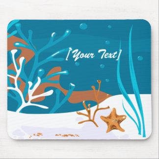 Aguamarina acuática Mousepad de las estrellas de Alfombrilla De Ratones