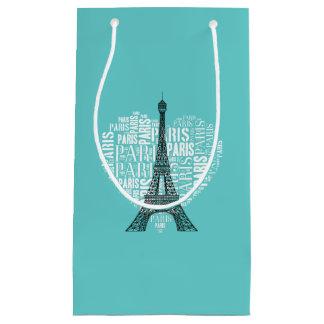 Aguamarina adorable de París el | del amor Bolsa De Regalo Pequeña