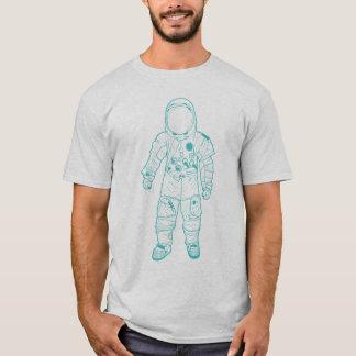 Aguamarina adulta del astronauta playera