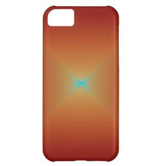 Aguamarina anaranjada quemada fractual > caja del  funda para iPhone 5C