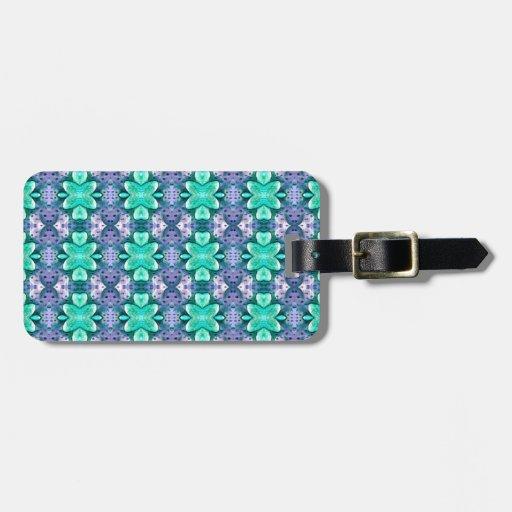aguamarina azul claro bonita de la estrella de la  etiquetas de equipaje