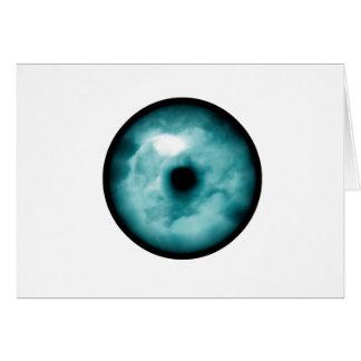 Aguamarina azul del gráfico de la nube del ojo tarjeta pequeña