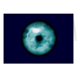Aguamarina azul del gráfico de la nube del ojo tarjeta de felicitación