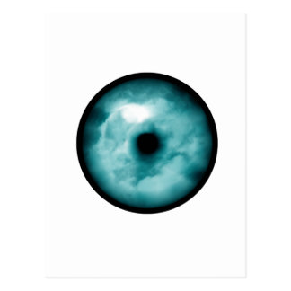 Aguamarina azul del gráfico de la nube del ojo tarjetas postales